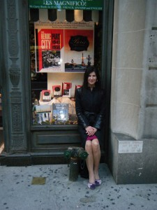 Deirdre at Rizzoli bookstore in New York with Paris Times Eight